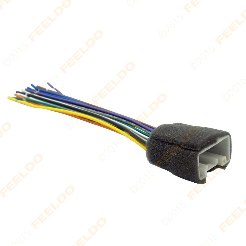 feeldo car radio stereo wiring harness adapter car harness wire car alternator one wire harness \u2022 edmiracle co  at soozxer.org
