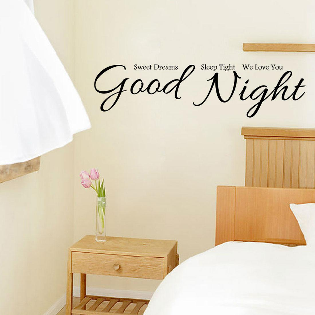 Good Night Wall Stickers Home Decor House Decorative Stickers Wall Decals For Bedroom Hde 012