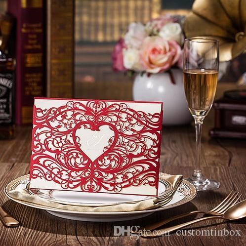 high class wedding invitations 2015 red heart high class wedding invitations 2015 red heart laser cut party,Laser Cut Party Invitations