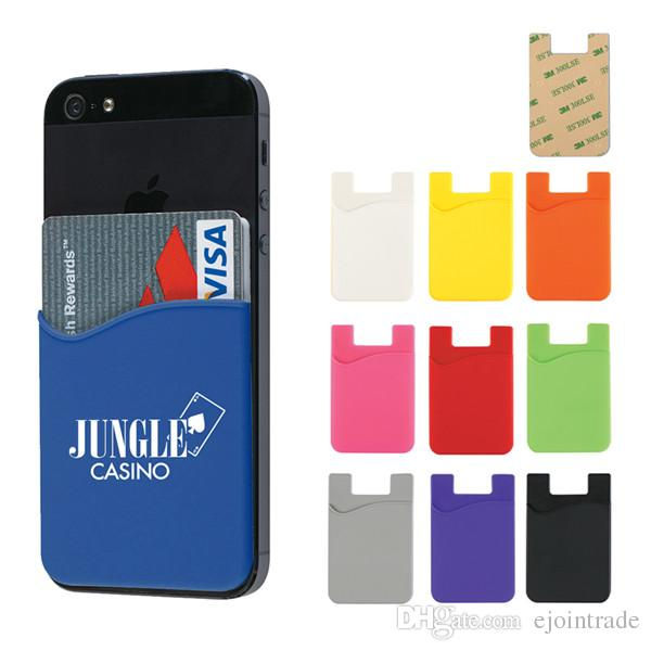 ... Credit Card Holder Wallet Smart Silicone Phone Pouch Customize Phone