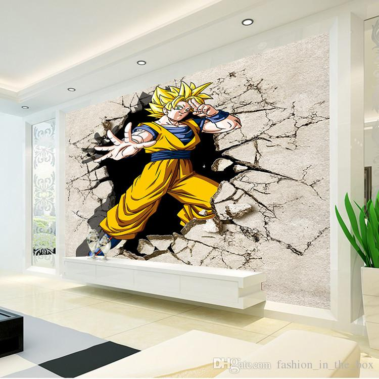 Dragon ball photo wallpaper 3d anime wall mural custom for 3d mural wallpaper for bedroom