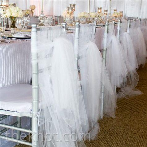 2015 C21 Chair Sash for Weddings Tulle White Wedding Decorations – Tulle Chair Bows
