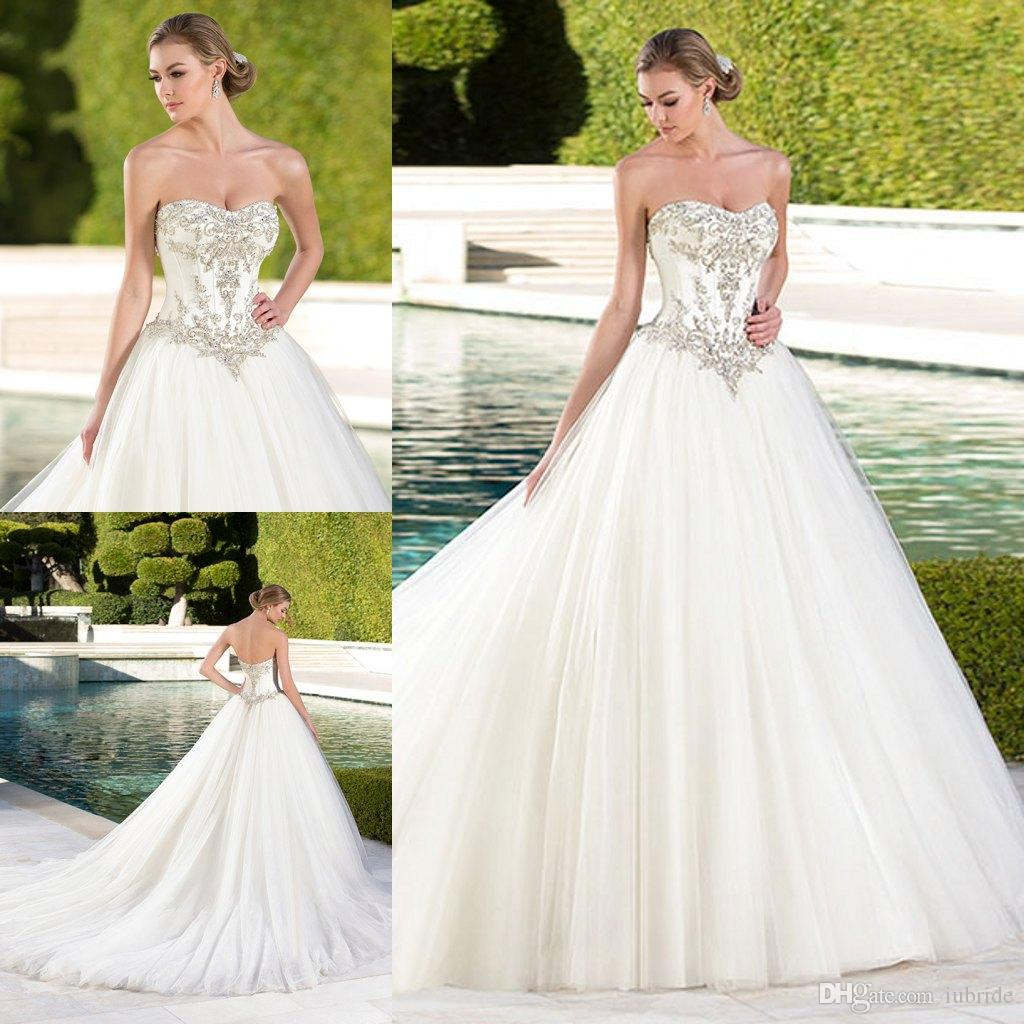2015 Organza Ball Gown Luxury Bridal Gowns Sweetheart