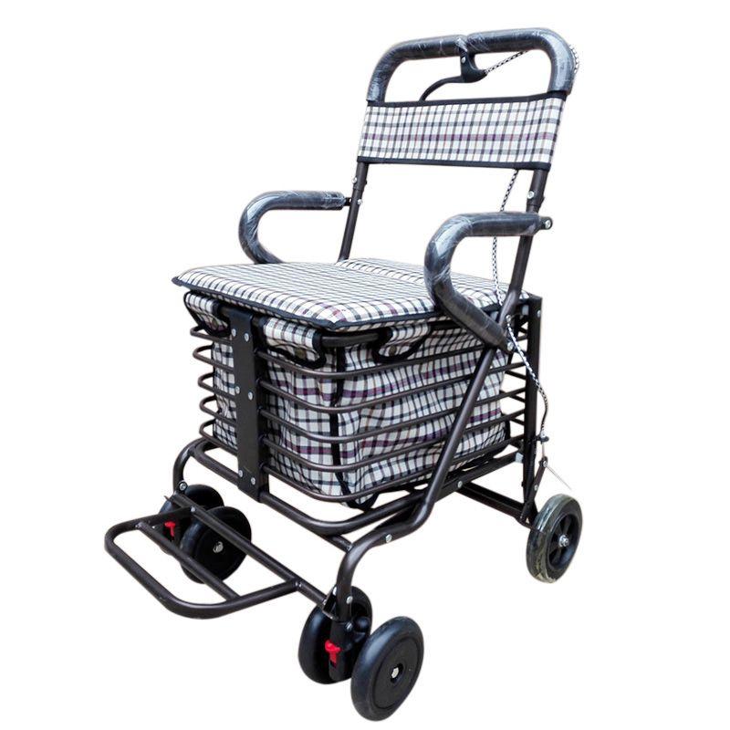 2017 High Grade Shopping Trolley Elderly Walkers Four