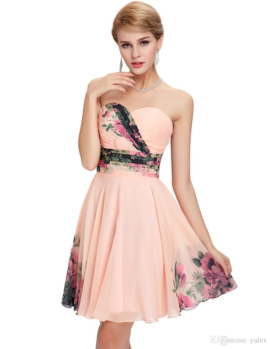 Strapless Knee Length Cocktail Dress