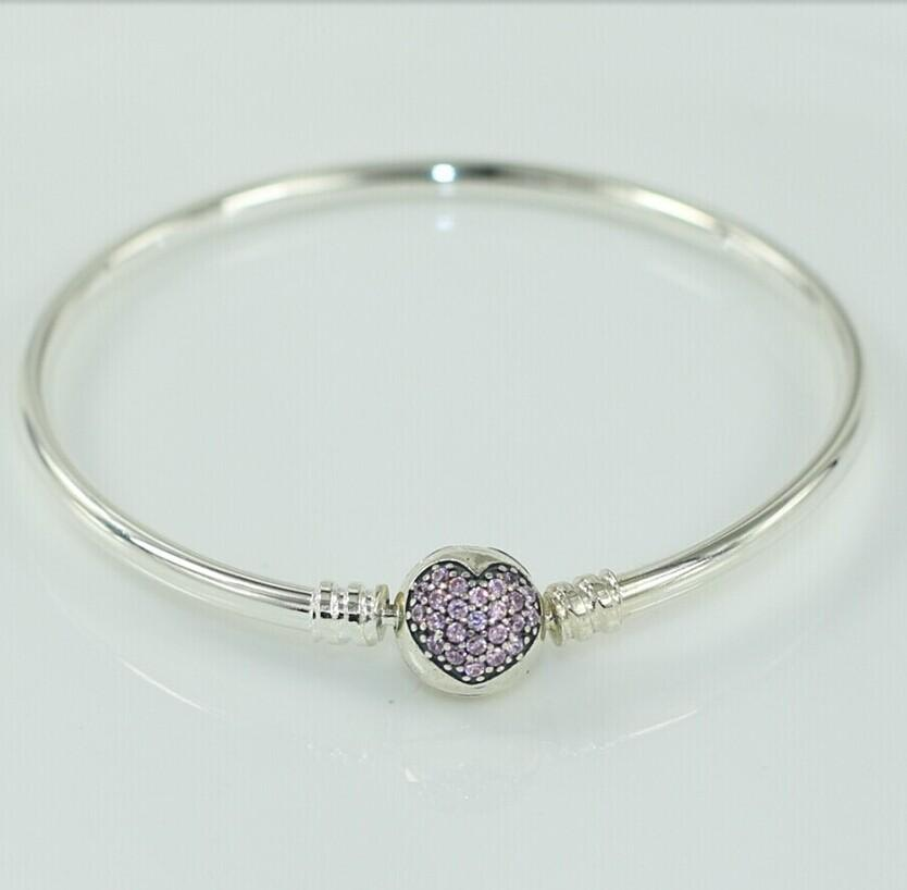 Pandora Bangle With Heart Engagement Ring Charm Pandora