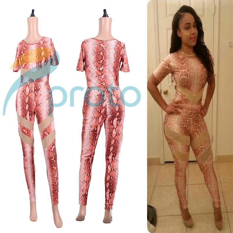 2014 New Leopard Printed Women Jumpsuit Sexy Bodycon One Piece ...
