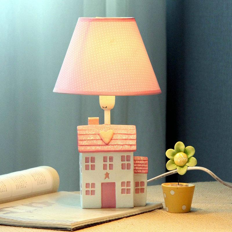 Cute Pink Girl S Room Mini Table Lamp Cartoon House