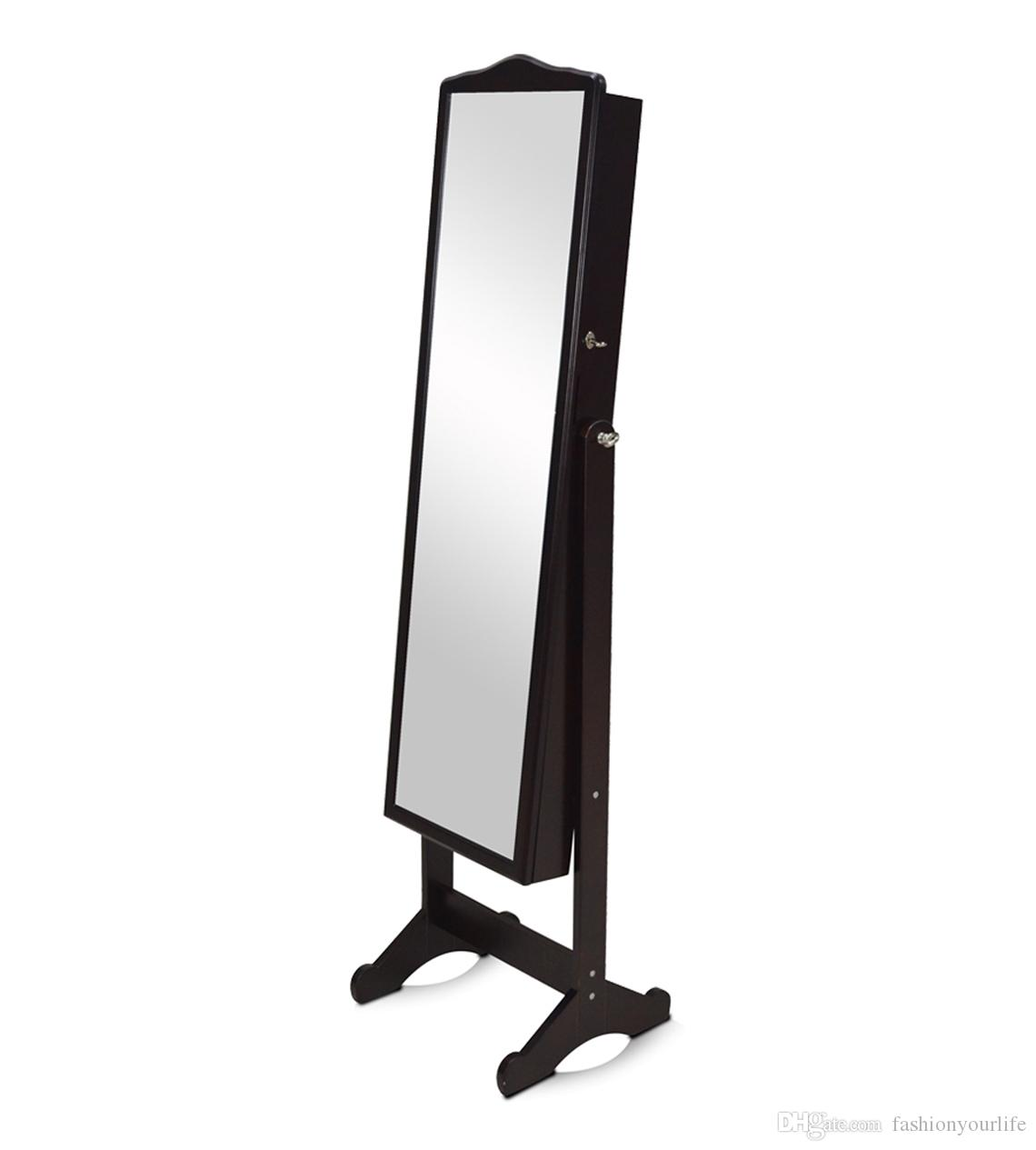 Great Mirror Jewelry Box Armoire Hd Photo With Full Length