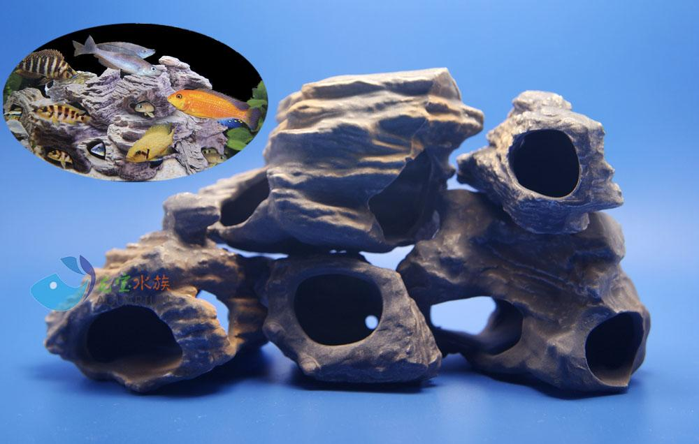 Cichlid Tank Decorations mf Cichlid Stone Ceramic Aquarium Rock Cave Decor For Fish Tank Ak568 Online