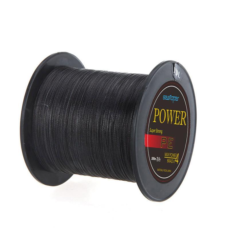 1000m braided fishing line black super strong dyneema for Black fishing line