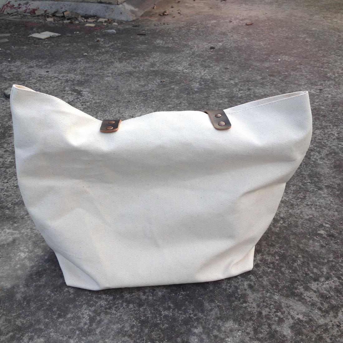 Thick And Durable 16oz Pure Natural Cotton/black Canvas Tote Bag ...