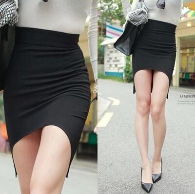 2017 Sexy Black Bandage Skirt Short Mini Office Women Clothing ...