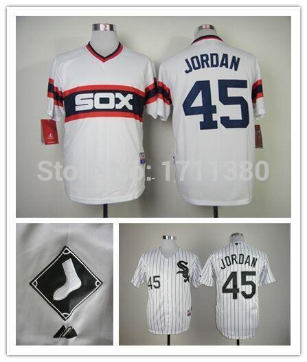 30 Teams- 45 Michael Jordan Jersey Stitched Chicago White Sox