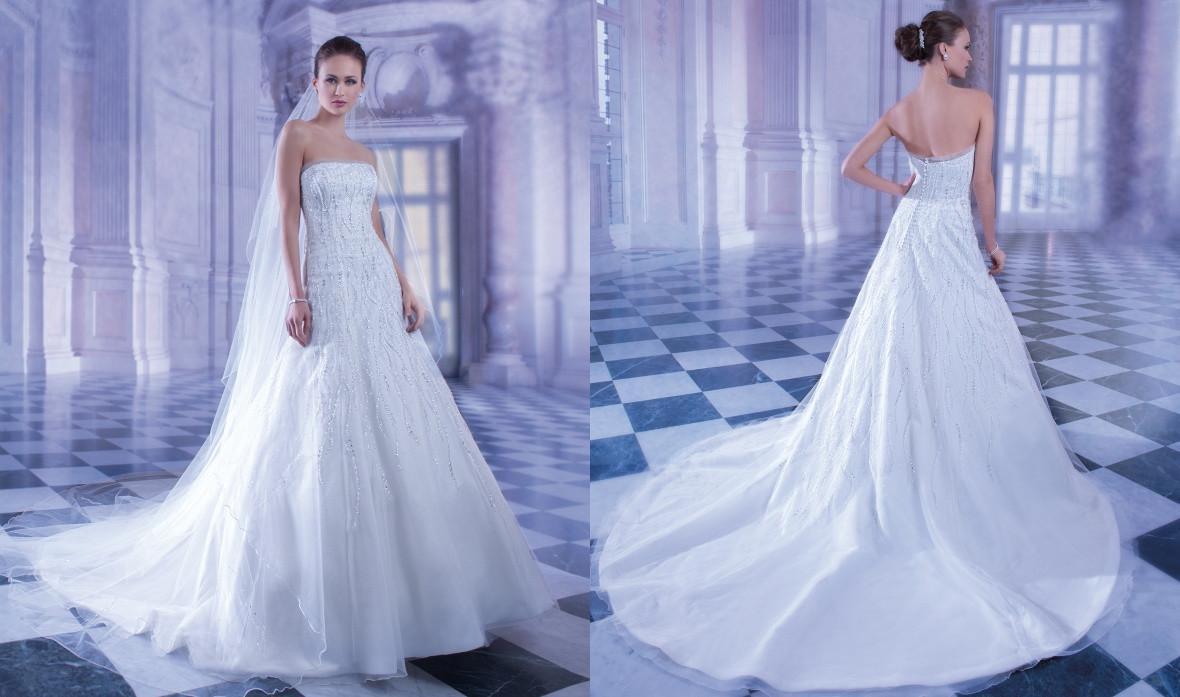 Wholesale Demetrios Wedding Dresses : Discount spring demetrios wedding dresses a line crystal