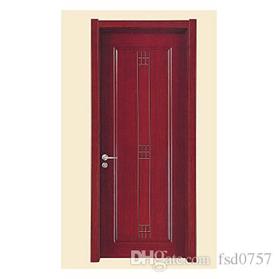 2017 flat carving solid wood door from fsd0757 for Flat solid wood door