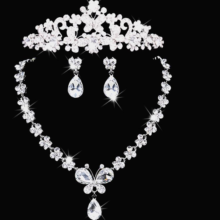 2017 bridal party jewelry sets tiaras and earrings for Bridesmaid jewelry sets under 20