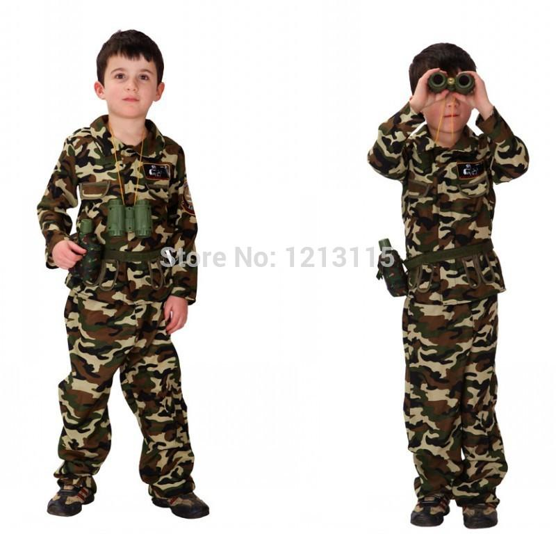 Cheap Childrens Halloween Costumes superman baby boy romper long sleeve kids halloween costume gift new jumpersuit spring autumn clothing for Free Shipping Childrens Halloween Costumes Boys Soldiers Costumes Kids Soldiers Cosplay Game Uniforms