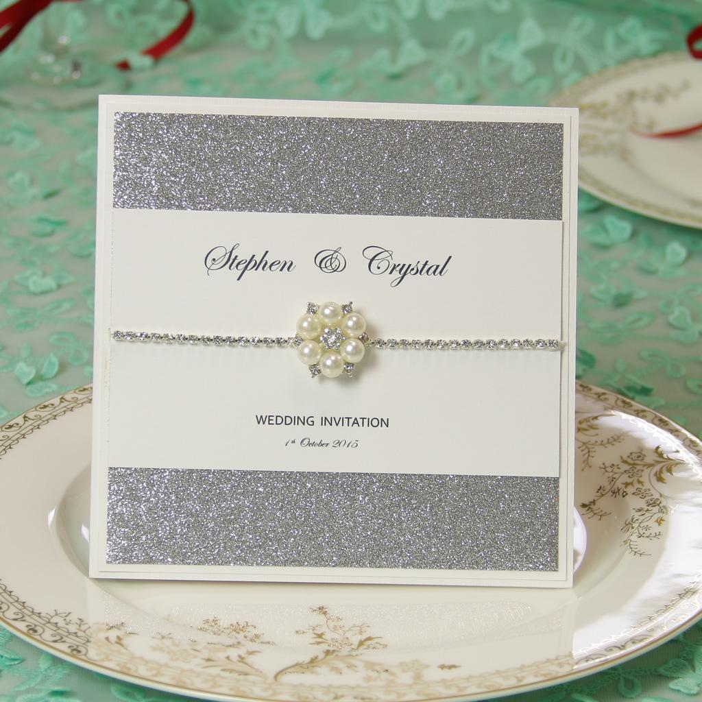 wedding invitation card customized diamonds high end noble quality, Wedding invitations