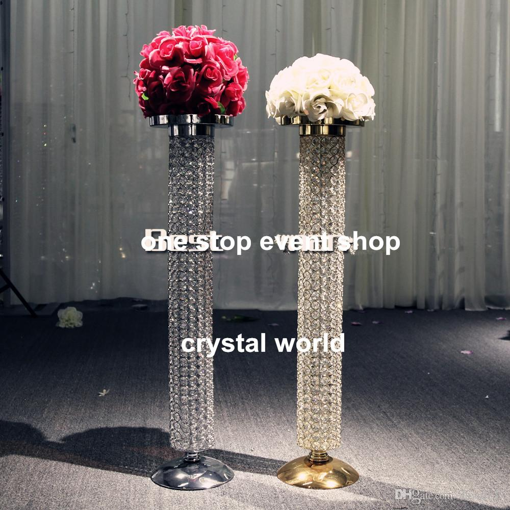Wedding Decoration Gold Crystal Chandelier Table Centerpieces ...