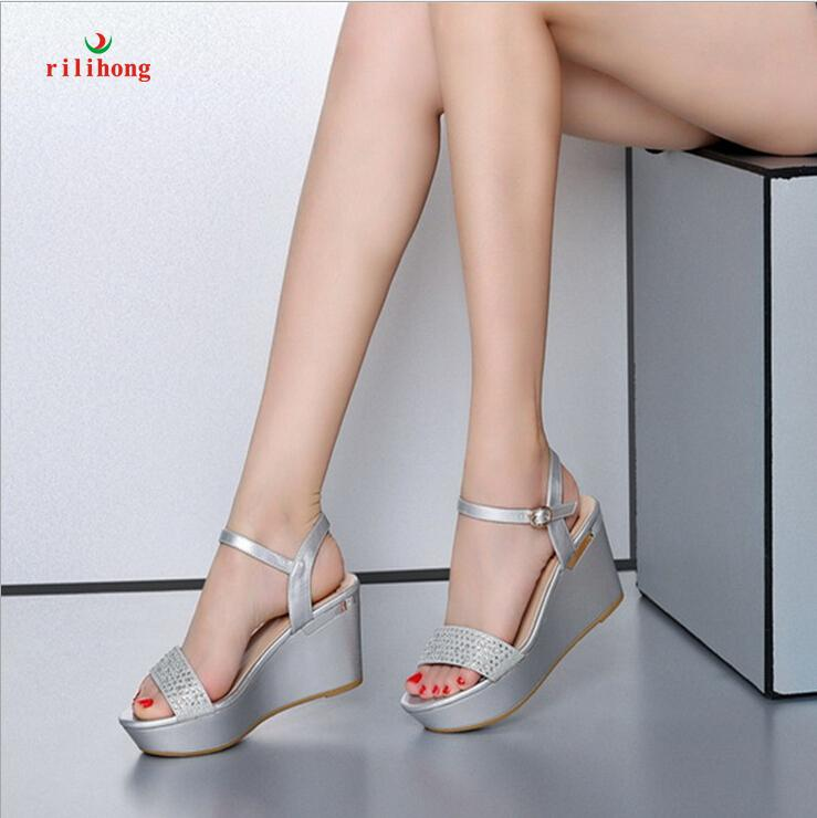 Rilihong@Women'S Shoes Platform Wedges Sandals/Heels/Peep Toe ...