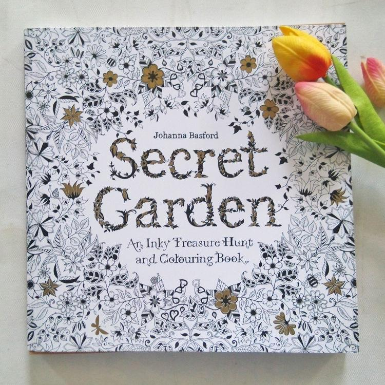2015 Secret Garden An Inky Treasure Hunt And Coloring Book Adult Children Relax Graffiti Painting Online With