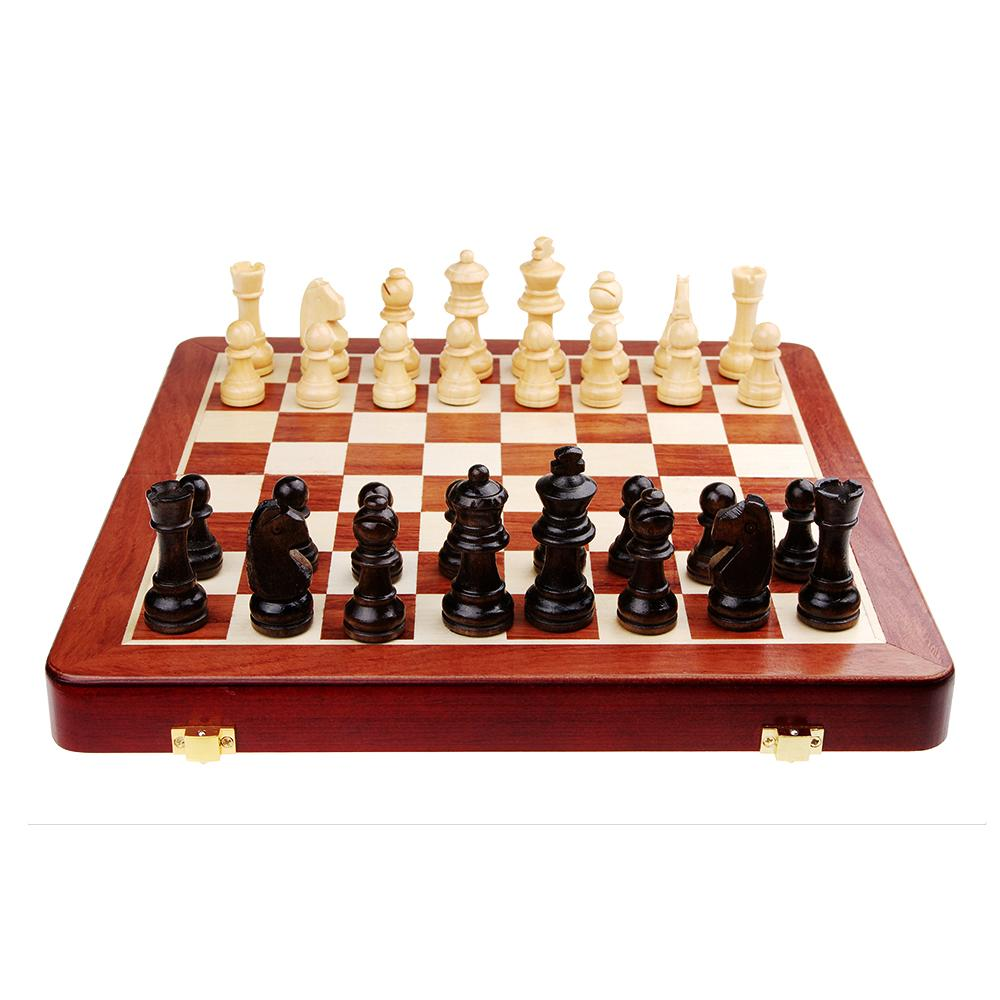 High quality solid wood standard international folding portable chess sets with chess pieces - Simple chess set ...