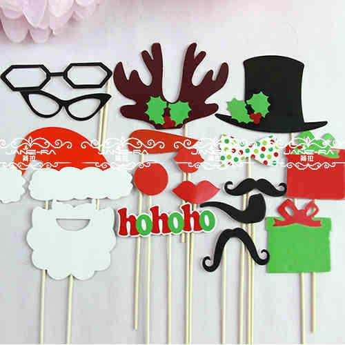 New hot diy christmas decoration photo booth props hat for Funny diy christmas decorations