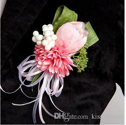 handmade bridal corsages simulation tulips theme wedding bride, Beautiful flower