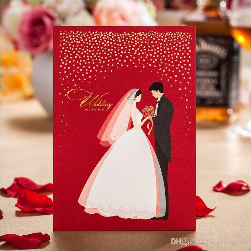 RedWhite Wedding Invitations 2015 Bridal Groom Invitation Cards – Red and White Wedding Invitations