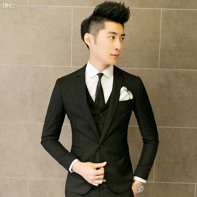 Online Cheap Wholesale Three Piece Suit Men Wedding Dress Man 2015 ...