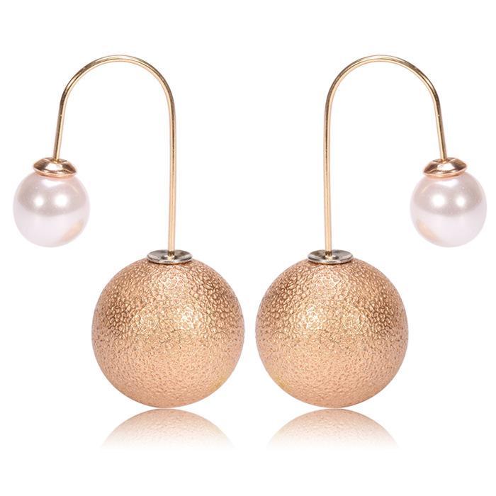 2017 Fashion Pearl Copper Hook Drop Earrings For Women