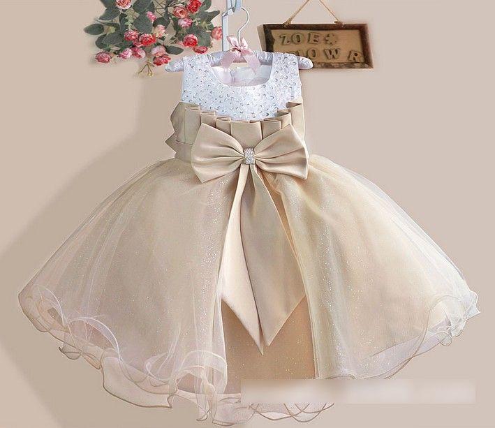 Girls Vintage Clothing Summer Children Rhinestone Ruffle Bowknot ...