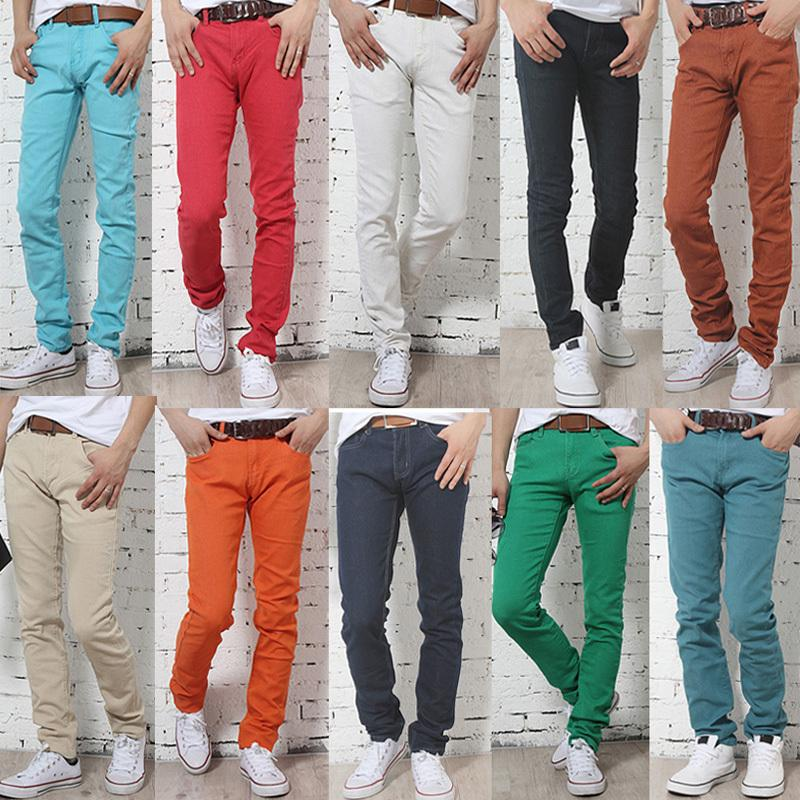 2017 Men'S Jeans Casual Straight Pants Men Slim Fit Elegant ...