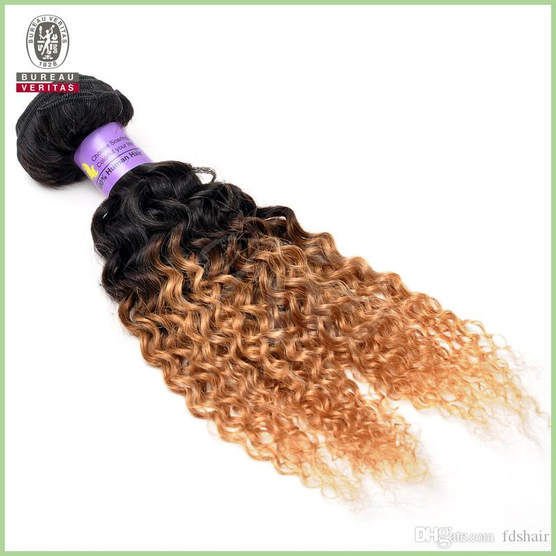 Crochet Hair Kinky Curly : Crochet Hair Extension 8A Kinky Curly Human Hair Ombre Hair Extention ...