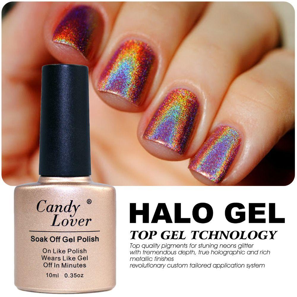 Hologram Gel Nail Polish: Wholesale Candy Lover Holographic Halo Glitter Gel Polish