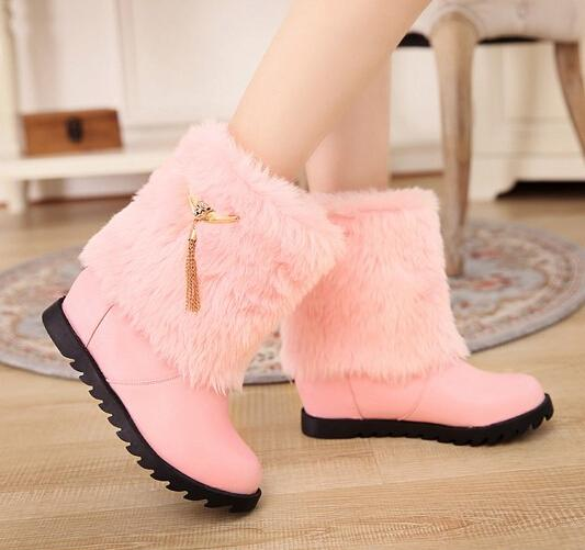 Grils Pink Boots Sweet Boots For Girls Lady Boots Inside High Heel ...