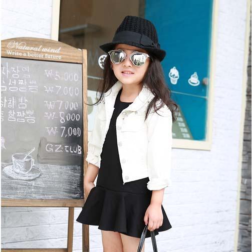 Girls Coat Kids Jackets Girls Tops Denim Autumn Coat Children ...