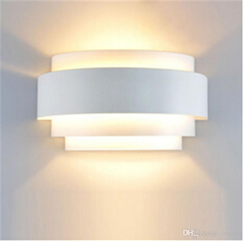Woodwork led wall lamp switch voice control wall light for Apliques led para escaleras