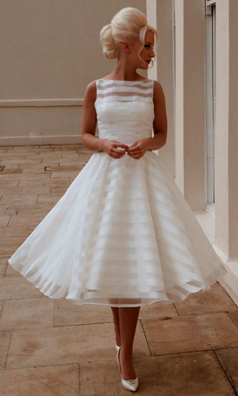 Vintage Tea Length Wedding Dress Reviews  Vintage Tea Length ...