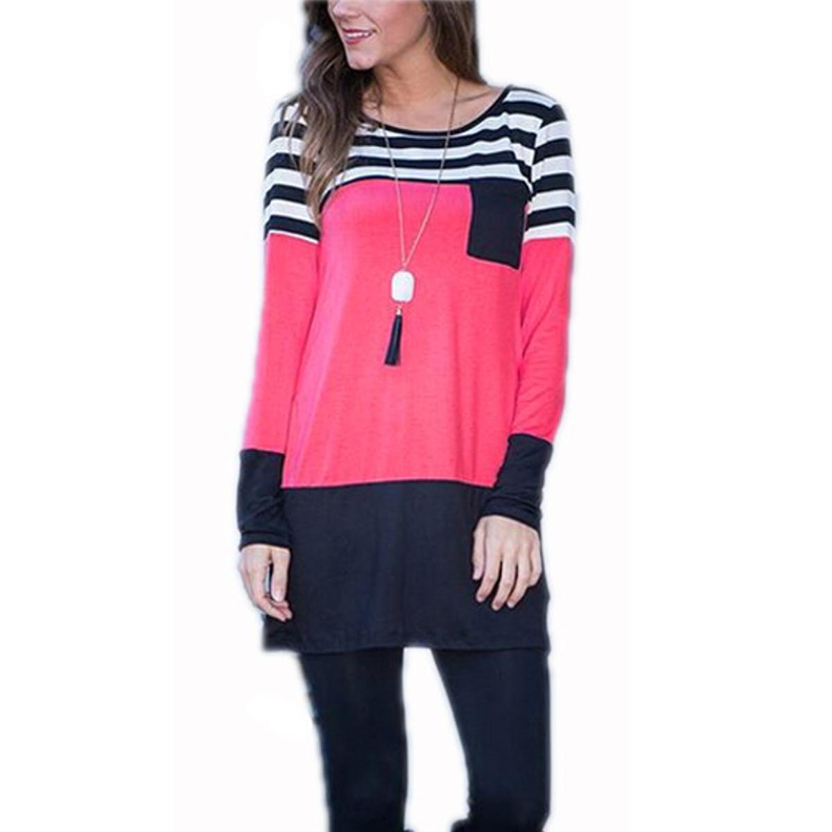 Shirt new design 2015 - Fashion Women Loose Full Sleeve T Shirt Autumn Cotton Long T Shirts Tops 2015 New