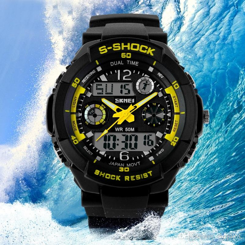 mens delicate cool s shock sports watch led analog digital mens delicate cool s shock sports watch led analog digital waterproof alarm military watch fashion