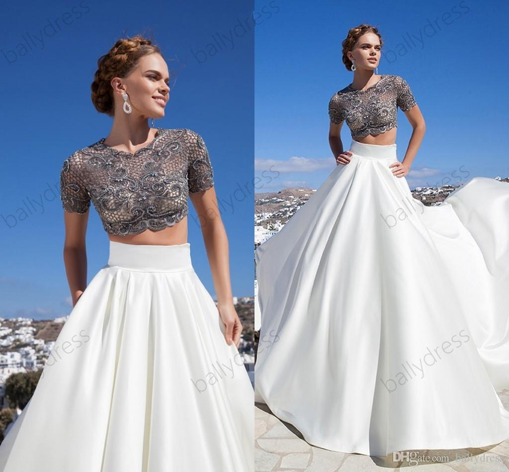 Elegant winter formal gown two pieces long prom dresses for Formal dresses for winter wedding