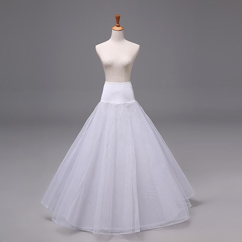 2017 cheap petticoats in stock bridal underskirt crinoline for Hoop underskirt for wedding dress