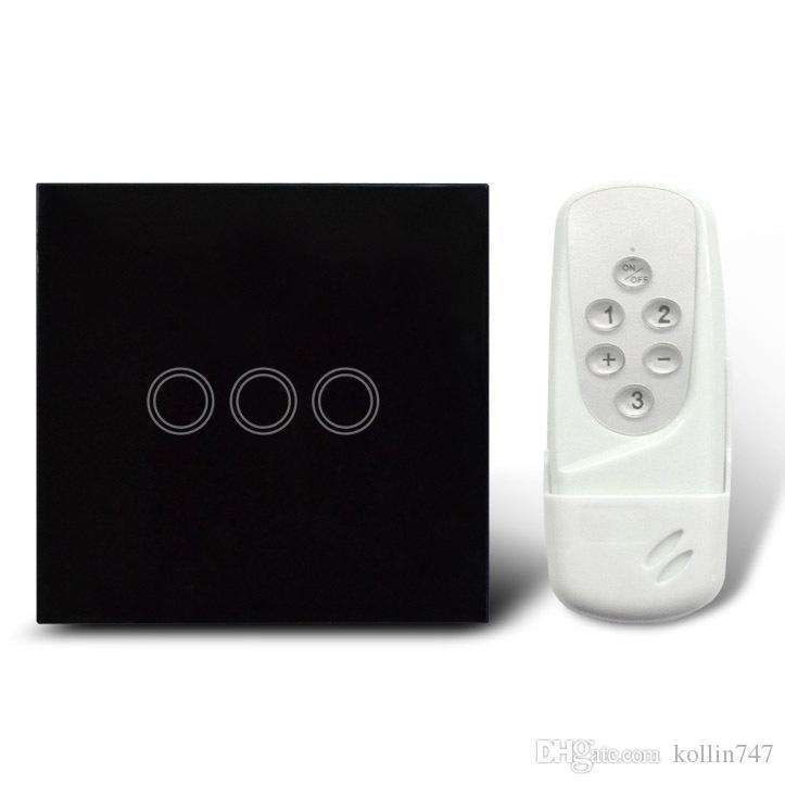 UK Modell intelligente Fernbedienung umschalten und Touch-Schalter 3 Banden, taktile Schalter mit Glasabdeckung, 433Mhz, kostenloser Versand
