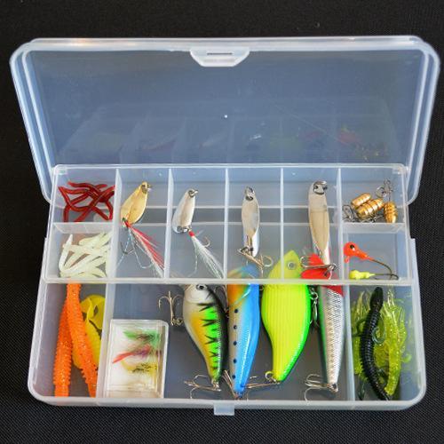 hard/soft fishing lures set sequin/vib/popper/minnow artificial, Soft Baits
