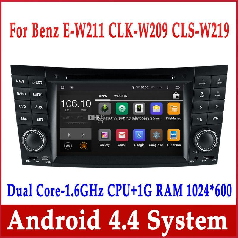 android 4 4 car dvd gps navigation for mercedes benz e. Black Bedroom Furniture Sets. Home Design Ideas