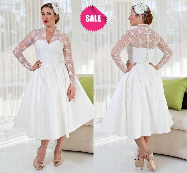 Plus Size Tea Length Wedding Dresses Uk - Amore Wedding Dresses