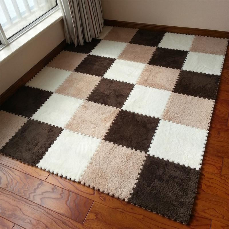 Warm Living Room Floor Mat Cover Carpets Rug Soft Area Puzzle Climbing Baby 3030cm Patchwork Carpet Mats