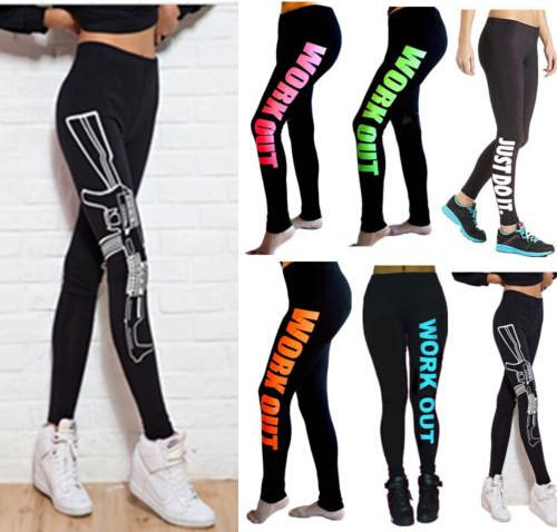 Best 9 Designs Workout Leggings Women Capri Yoga Running Sport ...